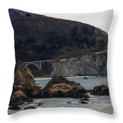 Heart Of The Bixby Bridge Throw Pillow