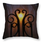Heart Of The Cemetery Throw Pillow