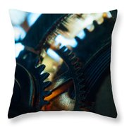 Heart Of The Machine - Time Throw Pillow