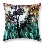 Heart Of The Rain Forest Throw Pillow