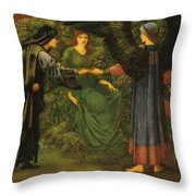 Heart Of The Rose 1889 Throw Pillow