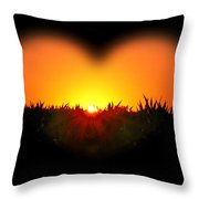 Heart Of The Sunrise Throw Pillow