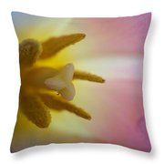 Heart Of The Tulip Flower Throw Pillow