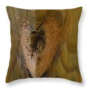 Heart Of The Wood Throw Pillow