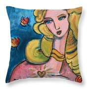 Heart Of Venus Throw Pillow