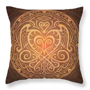 Heart Of Wisdom Mandala Throw Pillow