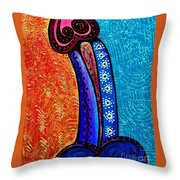 Heart On Painting Throw Pillow