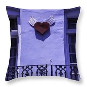 Heart On Wall Throw Pillow