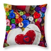 Heart Pushpin Chusion  Throw Pillow by Garry Gay