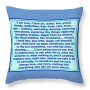 Heart Says I Am Love Throw Pillow