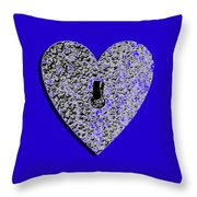 Heart Shaped Lock .png Throw Pillow