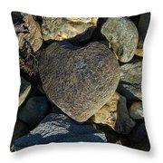 Heart Shaped Stone Loch Fyne  Throw Pillow