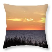 Heart Sunset Throw Pillow