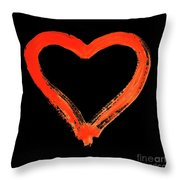Heart - Symbol Of Love - Watercolor Painting Throw Pillow