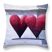 Heart To Heart Throw Pillow