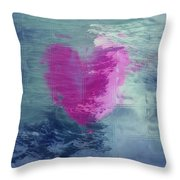 Heart Waves Throw Pillow