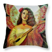 Heart Wings Angel Throw Pillow