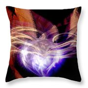 Heart Wings Throw Pillow