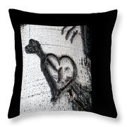 Heart Written In The Trees 3 Throw Pillow