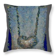 Hearted On Your Wall Again Medalion Painting Throw Pillow
