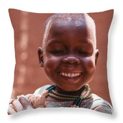 Heartful Smile Throw Pillow
