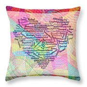 Heartfull Messages Throw Pillow