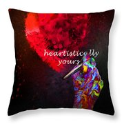 Heartistically Yours Throw Pillow