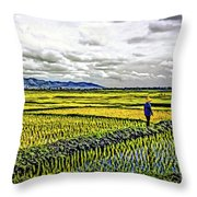 Heartland Oil Throw Pillow