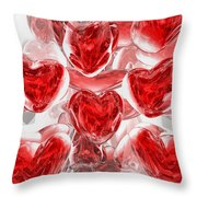 Hearts Afire Abstract Throw Pillow