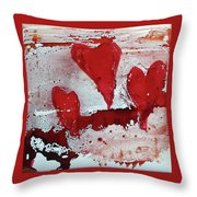 Hearts Afire Throw Pillow