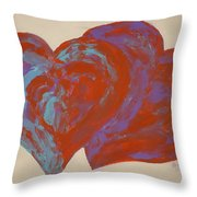Hearts A-flutter Throw Pillow