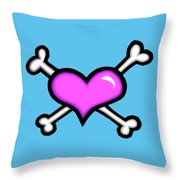 Heart And Bones Throw Pillow