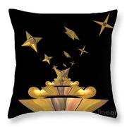 Hearts And Stars Throw Pillow