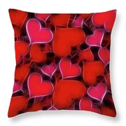 Hearts Collage Throw Pillow