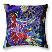 Hearts Drum 2 Throw Pillow