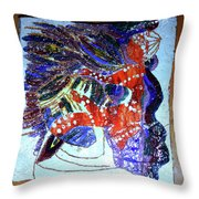 Hearts Drum 3 Throw Pillow