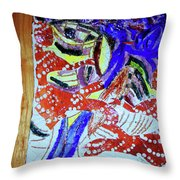 Hearts Drum 4 Throw Pillow
