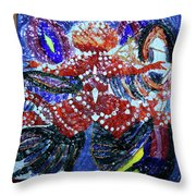 Hearts Drum 5 Throw Pillow