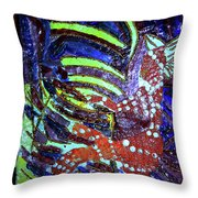 Hearts Drum 6 Throw Pillow