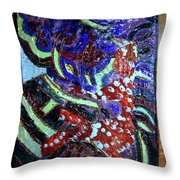 Hearts Drum 7 Throw Pillow