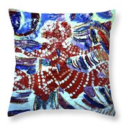 Hearts Drum 8 Throw Pillow