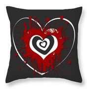 Hearts Graphic 1 Throw Pillow