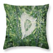 Hearts In Nature - Heart Shaped Web Throw Pillow