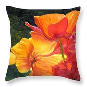 Hearts Of Poppies Throw Pillow