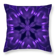 Hearts Of Purple Kaleidoscope Throw Pillow