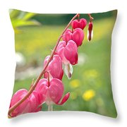 Hearts On Line Throw Pillow
