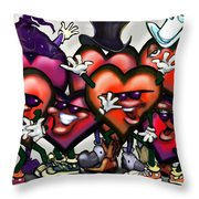 Hearts Party Throw Pillow