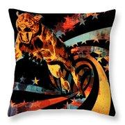 Heat Beast Throw Pillow