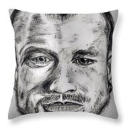 Heath Ledger Charcoal Sketch Throw Pillow