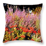 Heather And Sedum Throw Pillow